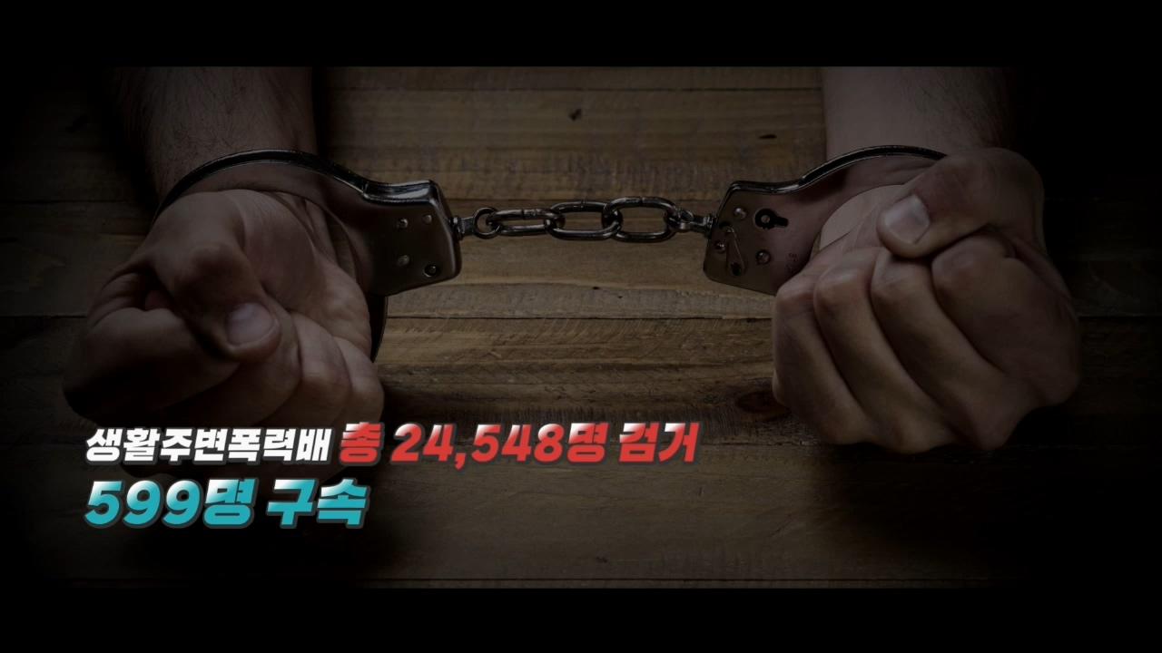 조직폭력 등 생활주변폭력배 100일간 특별단속결과_경찰리포트(2018.7.6)