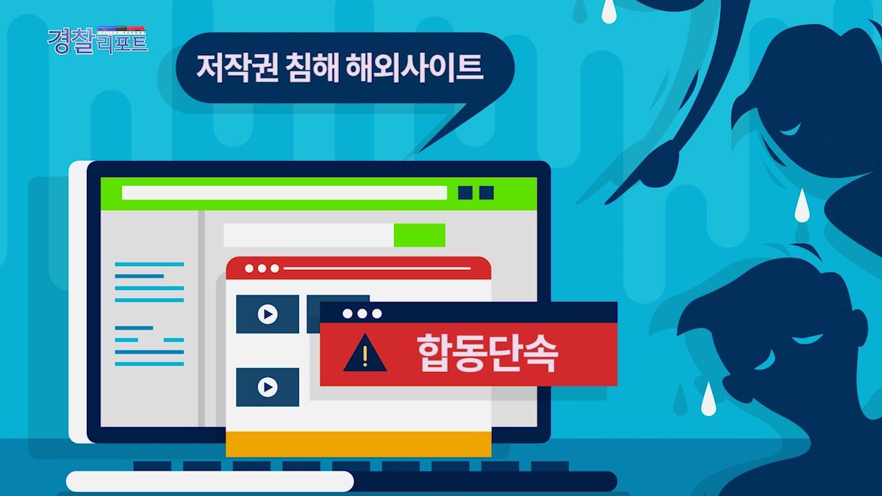 경찰청-문체부 저작권 침해 해외사이트 합동단속